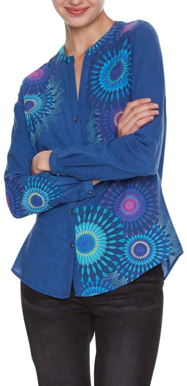 53d19e9894 Desigual modrá košeľa Cam Coraline značky Desigual - Lovely.sk