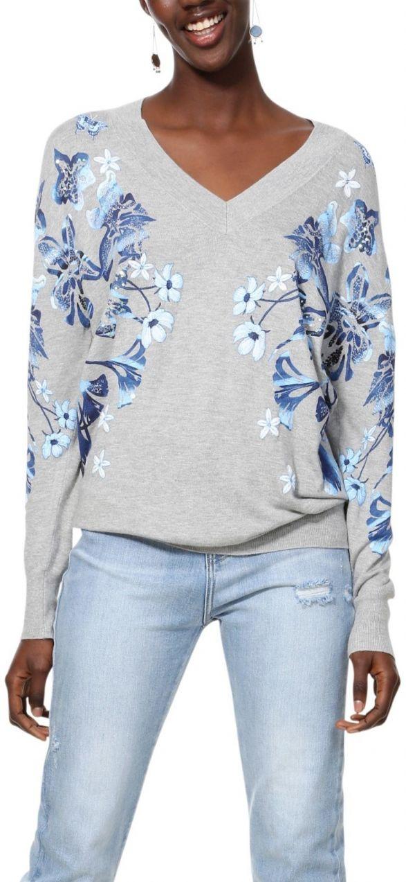 Desigual sivé sveter Jers Louth značky Desigual - Lovely.sk bee18333448