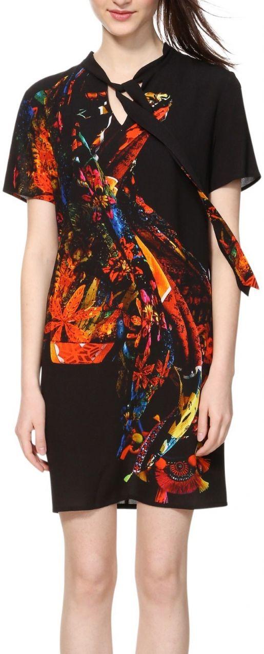 Desigual čierne šaty Vest Katherine značky Desigual - Lovely.sk d5e8b6681c1