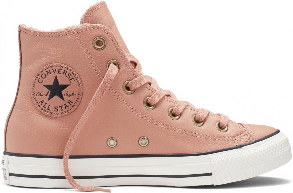 3ce78ba3a0e6 Converse púdrové kožené dámske topánky s kožušinkou Winter Knit značky  Converse - Lovely.sk