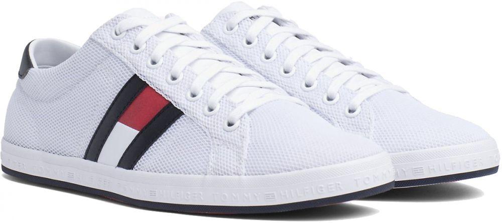 Tommy Hilfiger biele pánske tenisky Essential Flag Detail Sneaker White 1463d233898