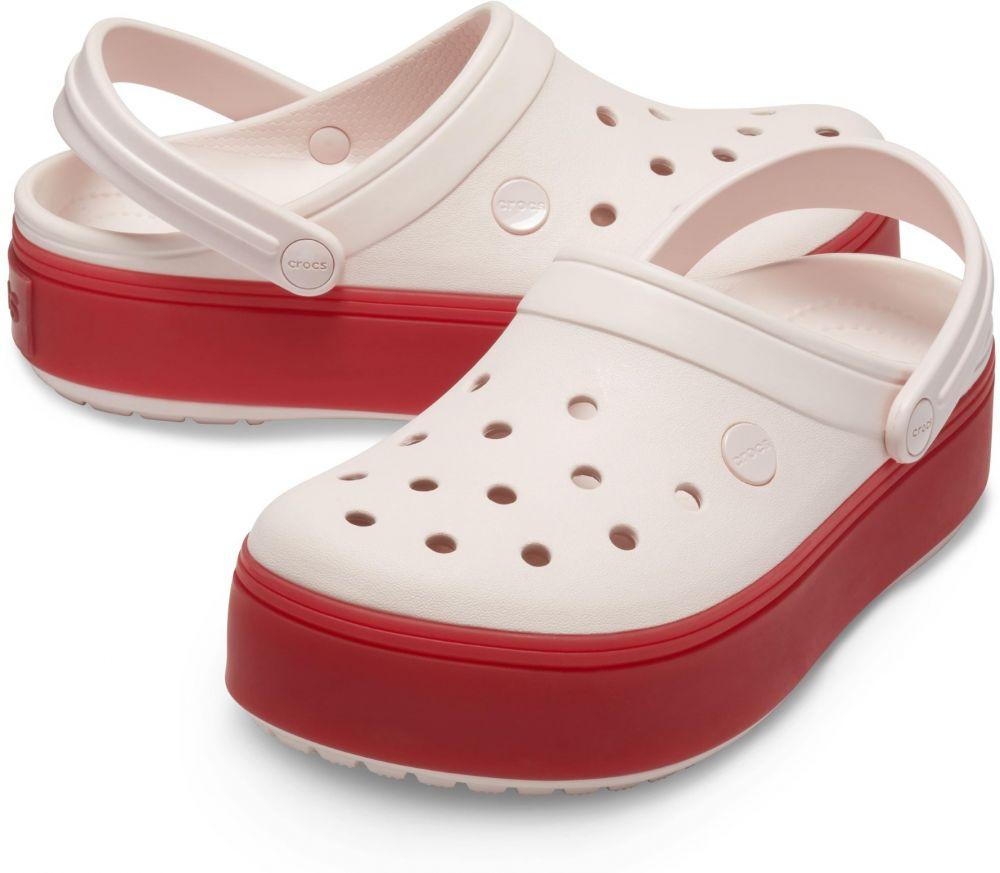 57d33d1aa Crocs ružové šľapky na platforme Crocband Platform Clog Barely Pink/Pepper  značky Crocs - Lovely.sk