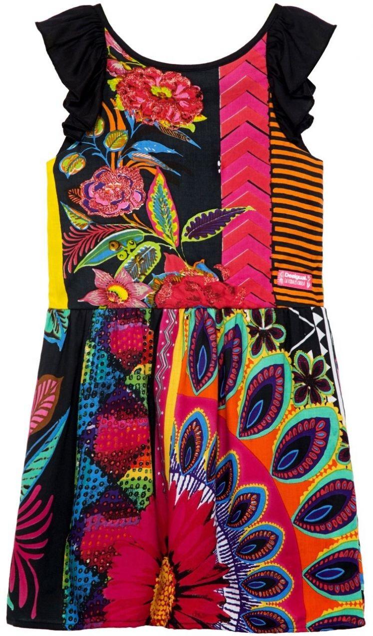 a686a090be5b Desigual farebné dievčenské šaty Nuakchot značky Desigual - Lovely.sk