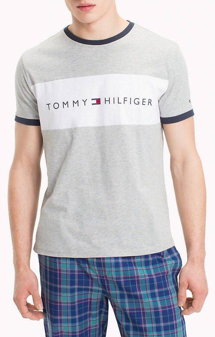 20591a754 Tommy Hilfiger sivé pánske tričko Rn Tee Ss Logo s logom značky Tommy  Hilfiger - Lovely.sk