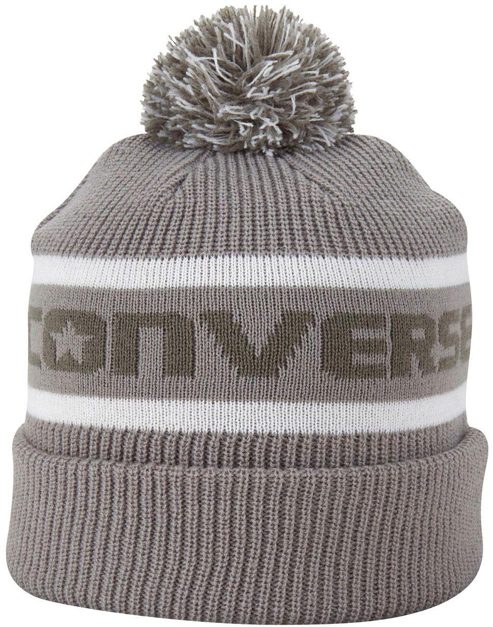 72f5e817770f3 Converse sivá čiapka s brmbolcom Jacquard Pom Watchcap značky Converse -  Lovely.sk