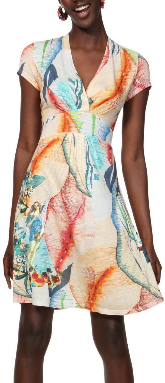 6fa23535dbfa Desigual farebné šaty Vest Luana značky Desigual - Lovely.sk