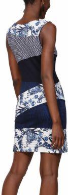 Desigual modro-biele šaty Vest Olivia značky Desigual - Lovely.sk 8812d3b9208