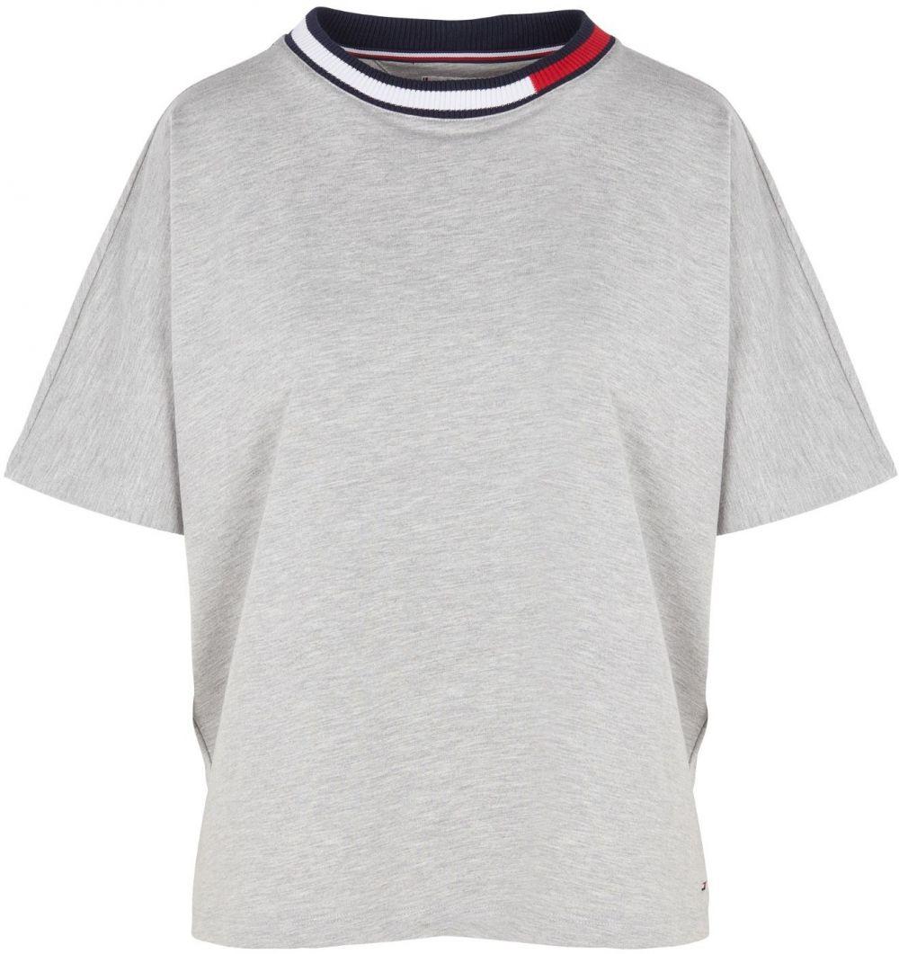 Tommy Hilfiger sivé oversize tričko RN TEE SS značky Tommy Hilfiger ... 38c72401b92