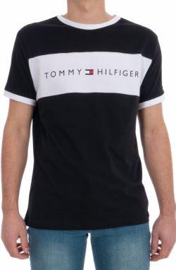Tommy Hilfiger tmavomodré pánske tričko CN SS Tee Logo Flag a17f30dd340