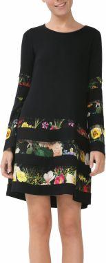 c5595596b62b Desigual čierne dámske šaty Picos Caribou značky Desigual - Lovely.sk