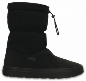 Crocs čierne snehule Lodgepoint Pull-on Boot Black