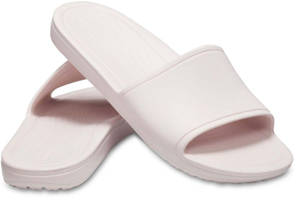 3d23db5a77 Crocs svetlo ružové šľapky Sloane Slide Barely Pink značky Crocs ...