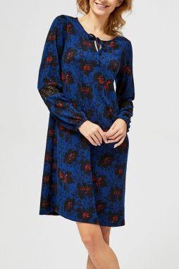 8197ce9f7793 Moodo modré šaty so zaväzovaním