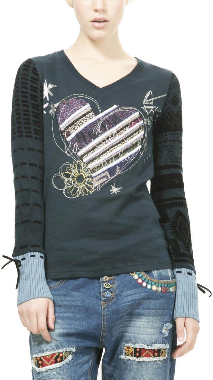 440f3e794d15 Desigual tmavo modré tričko Canace značky Desigual - Lovely.sk