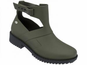 Mel khaki Open Boot Green / Black