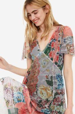 c62f3fddee Desigual farebné šaty Vest Daria