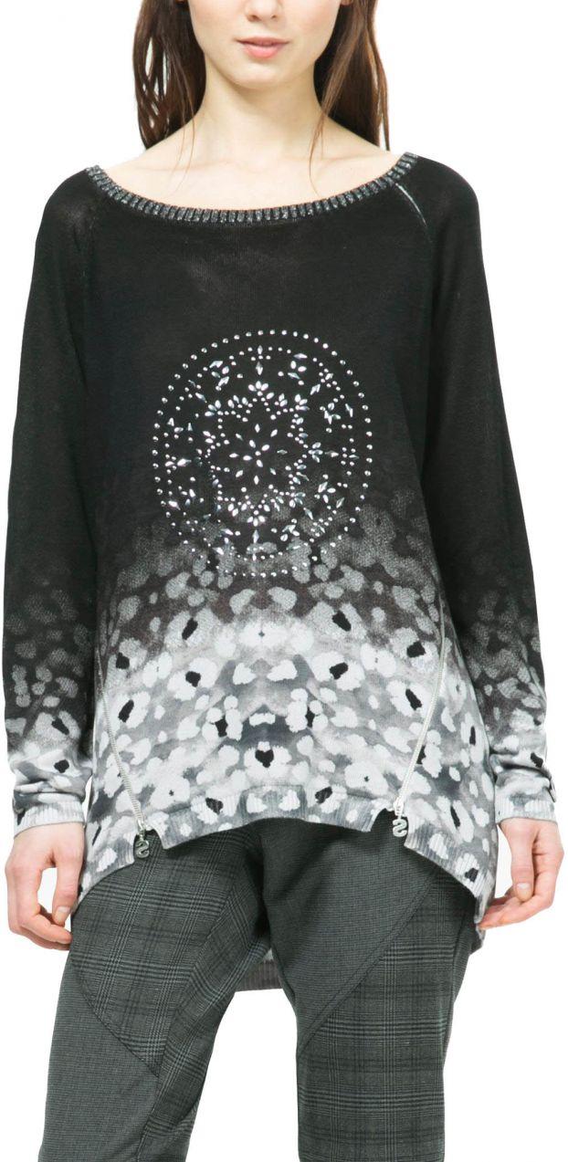 Desigual čierny sveter Manuela značky Desigual - Lovely.sk 9a7128abdf0