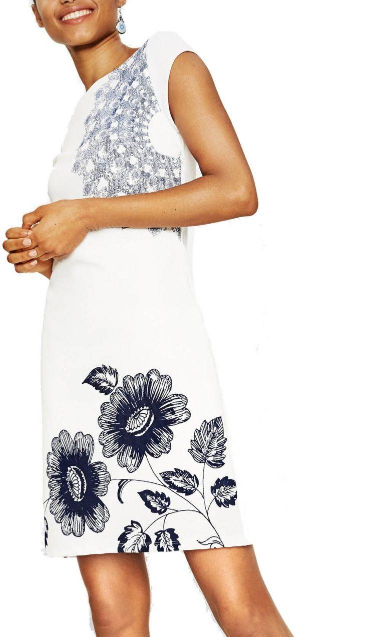 Desigual biele šaty Melisa značky Desigual - Lovely.sk 538920ecee1