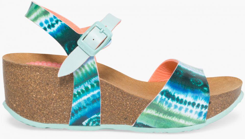 18f73bee37de Desigual tyrkysové topánky na platforme Bio7 Blue Aquarella značky Desigual  - Lovely.sk