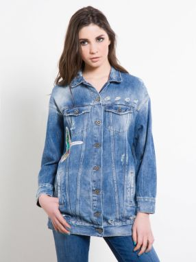 Fornarina džínsová oversize bunda Level Denim Jacket
