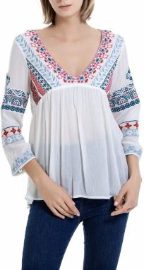 Anany biely top Blus Vitoria