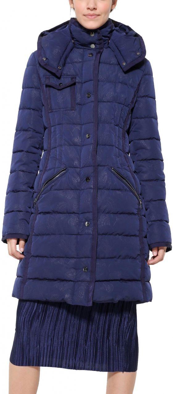 Desigual modrý zateplený kabát Pisa značky Desigual - Lovely.sk 449ba6e1dd2