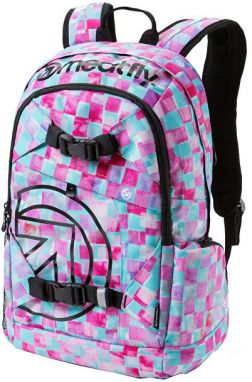 Meatfly Batoh Base jumper 3 Backpack L - Cross Mint Print