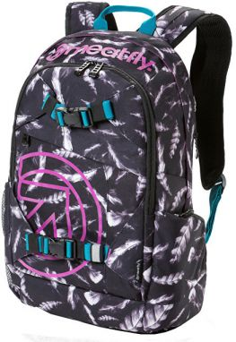Meatfly Batoh Base jumper 3 Backpack M - Feather Gray scale Print