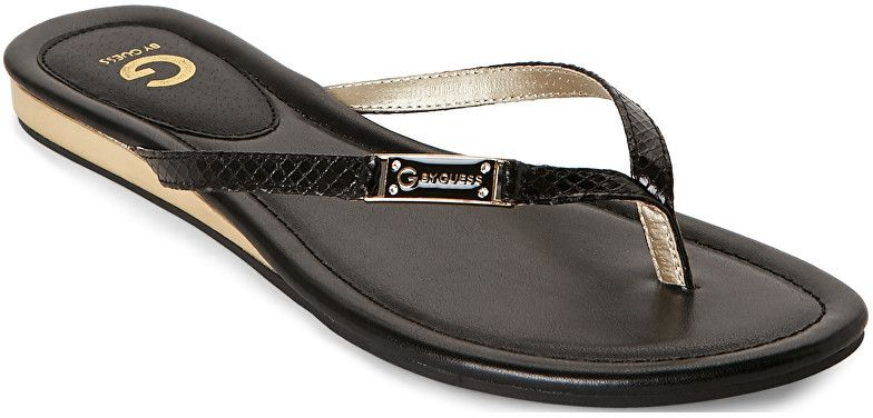 9bed33472fe5c Guess Dámske žabky G by GUESS Women`s Jumper Thong Sandals Black 39 ...