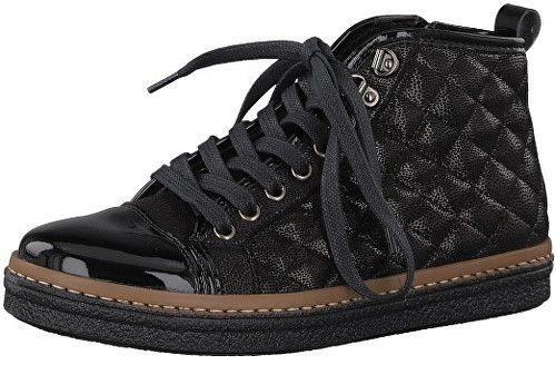 1710ae73b424 Tamaris Elegantné dámske členkové topánky 1-1-25725-39-098 Black Comb 36  značky Tamaris - Lovely.sk