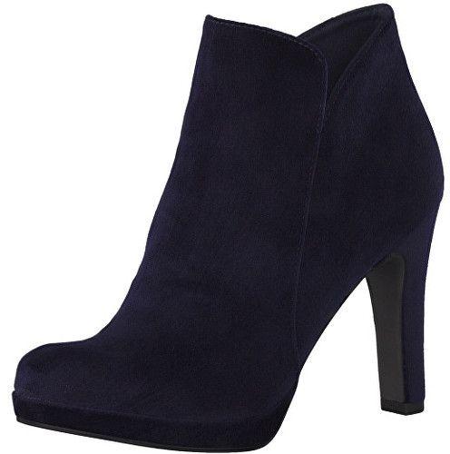 Tamaris Elegantné dámske členkové topánky 1-1-25046-29-846 Navy Velvet 36  značky Tamaris - Lovely.sk 33b7fcc45c7