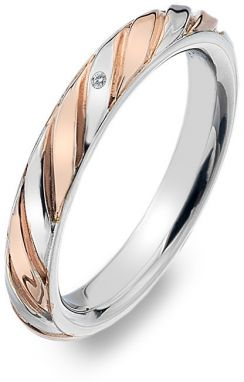 Hot Diamonds Bicolor prsteň s diamantom Breeze DR177 54 mm