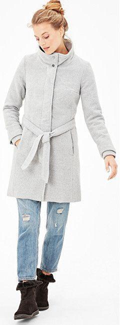 s.Oliver Dámsky šedý vlnený kabát 36 značky s.Oliver - Lovely.sk 0791d5a57d0