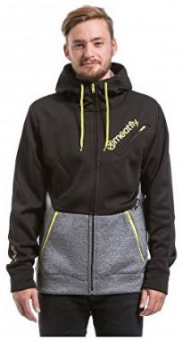 Meatfly Mikina Polygon 2 Technical Hood ie D - Black / Heather Grey S