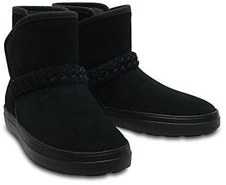 Crocs Dámske zimné topánky LodgePoint Suede Bootie W Black 204798-001 36-37 6bd9416cefa