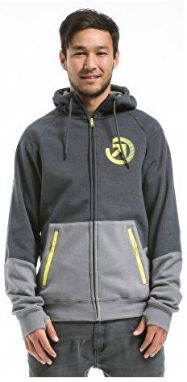Meatfly Mikina Twitch 2 Technical Hood ie D - Charcoal Heather / Grey S