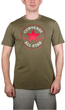 Converse Pánske tričko Core Chuck Patch Tee Medium Olive M