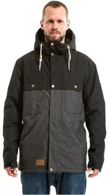 Meatfly Pánska bunda Dandy Jacket MNS Parka A - Black / Charcoal Heather M
