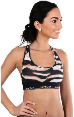 Calvin Klein Športová podprsenka Bralette Unlined QF1659E-WT9 Watercolor Animal/Bleach Out M