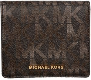 Michael Kors Peňaženka Jet Set Carry all Card Case - Brown