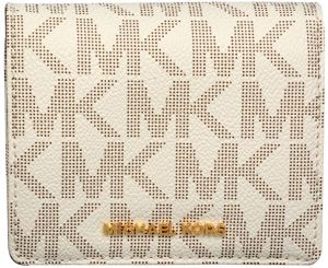 Michael Kors Peňaženka Jet Set Travel Carry all Card Case - Vanilla
