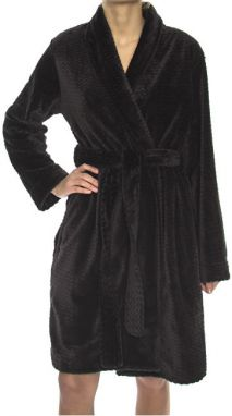 Calvin Klein Dámsky župan Robe ( Heavy Weight) QS5772A-001 Black S