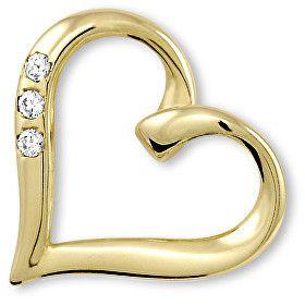 d54d7c828 Brilio Zlatý prívesok srdce s kryštálmi 249 001 00354 - 0,75 g značky Brilio  - Lovely.sk