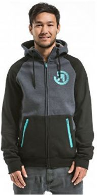 Meatfly Mikina Twitch 2 Technical Hood ie A - Black / Charcoal Heather M