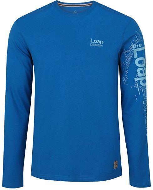 36b62bb037d2 LOAP Pánske tričko s dlhým rukávom Bahu Mykonos modrá CLM1766-M39M XXL  značky LOAP - Lovely.sk