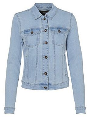 Vero Moda Dámska bunda Hot Soya Ls Denim Jacket Mix Noos Light Denim Blue XS