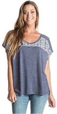Roxy Dámske tričko Fashion Dolman Fashion GeoBlue print Heather ERJZT03567-BSQH M