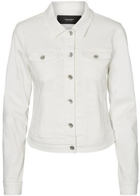 Vero Moda Dámska bunda Hot Soya Ls Denim Jack et Mix Noosa Bright White S