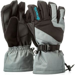 Meatfly Pánske prstové rukavice Agent Gloves A - Grey / Black / Blue M
