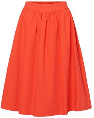 Vero Moda Dámska sukňa Ladina H/W Calf Skirt D2-3 Poppy Red XS